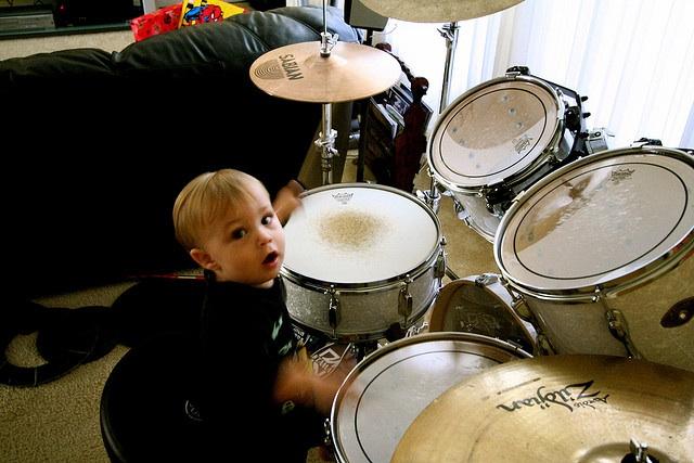 Little Man Drumming