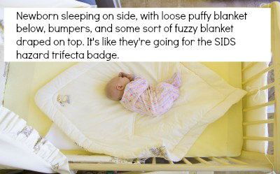 photos modeling unsafe crib sleep for babies